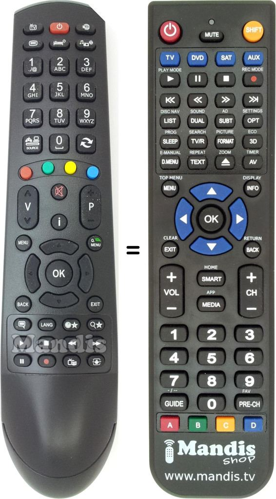 Replacement remote control for RC 4900 (30074871)