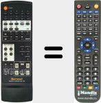 Replacement remote control for RM-102