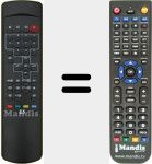 Replacement remote control for E5