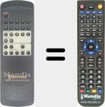 Replacement remote control for RM-CD90