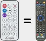 Replacement remote control for REMCON1602