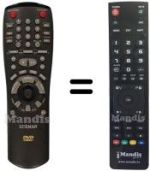 Replacement remote control LUXMAN DVD470