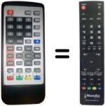 Equivalent remote control NOT ONLY TV SCARTDVB-TREC3
