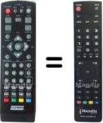 Replacement remote control D@TACOM TDT-HD150
