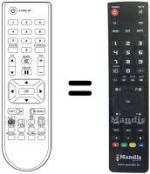 Equivalent remote control KAON MEDIA KCF-200