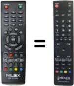 Replacement remote control NILOX NX-DT20U