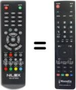 Replacement remote control NILOX NX-DT40U