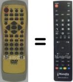 Replacement remote control Daytek DVD707