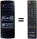 Equivalent remote control Cambridge ARX200