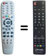 Replacement remote control Clarke Tech C-TECH8000