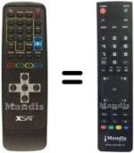 Replacement remote control AB SAT X SAT