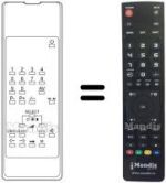 Equivalent remote control Hisawa 21 GALAXY BLACK