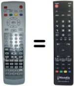 Replacement remote control NIKOJ TVCMZ3035