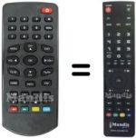 Replacement remote control NOT ONLY TV LV6TSCART4SD