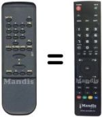 Equivalent remote control ONDIAL OR500