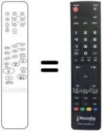 Equivalent remote control GOLDTECH GT241