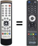 Equivalent remote control Quali TV QS 1080 IRCI