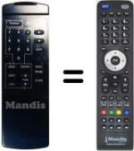 Equivalent remote control FREESAT OR 2000