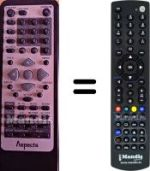 Replacement remote control Aspects LW 109 B