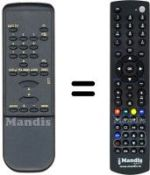 Equivalent remote control ONDIAL OR 500