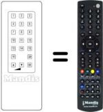 Replacement remote control ROSNER DCS 450 VR