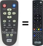 Equivalent remote control Western Digital WD ELEMENTS PLAY