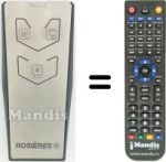 Replacement remote control Rosieres 49028897