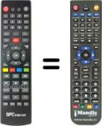 Replacement remote control SPC Internet 905X