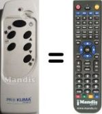 Replacement remote control PR Klima PRO001