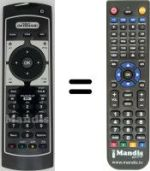 Replacement remote control MEDIASET REMCON855