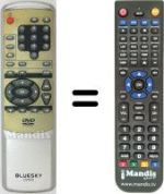 Replacement remote control QUESTAR DV900