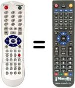 Replacement remote control THINK XTRA REMCON240