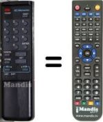 Replacement remote control SUPERJACK V-BOX II