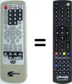 Replacement remote control CJ MULTIMEDIA DVX 100 B