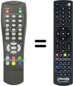 Equivalent remote control INTREEO DVB-MGB