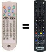 Replacement remote control WESDER AV 200