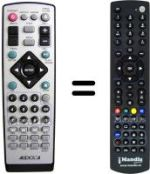 Replacement remote control TELEMAX DVD 3101