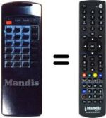 Equivalent remote control FREESAT OR 2010