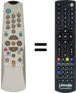 Replacement remote control SAT+ DVB 720