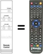 Replacement remote control Gpm 1401 R