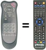 Replacement remote control ETON LCM 1750