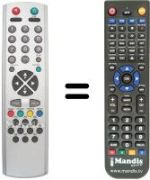 Replacement remote control KINGDHOME TV 2851