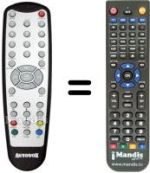 Replacement remote control BENZEX MTR 9100