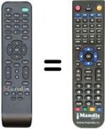 Replacement remote control NUMERICABLE DC 152 (PHILIPS)