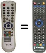 Replacement remote control SAT+ HDR 20