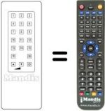 Replacement remote control Utax TVC 16 PROGR