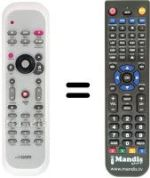 Replacement remote control GOM MEDIACENTER
