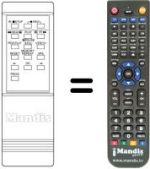 Replacement remote control MEMOREX VR 2150