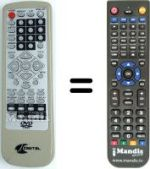 Replacement remote control LM DVX 480