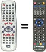 Replacement remote control RICHMOND DVR 2000